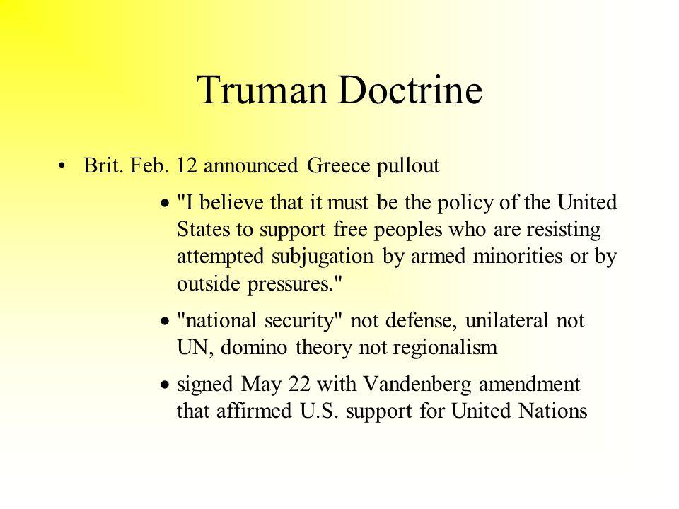 Truman Doctrine Brit. Feb.