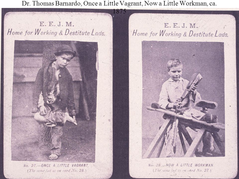 Dr. Thomas Barnardo, Once a Little Vagrant, Now a Little Workman, ca. 1875