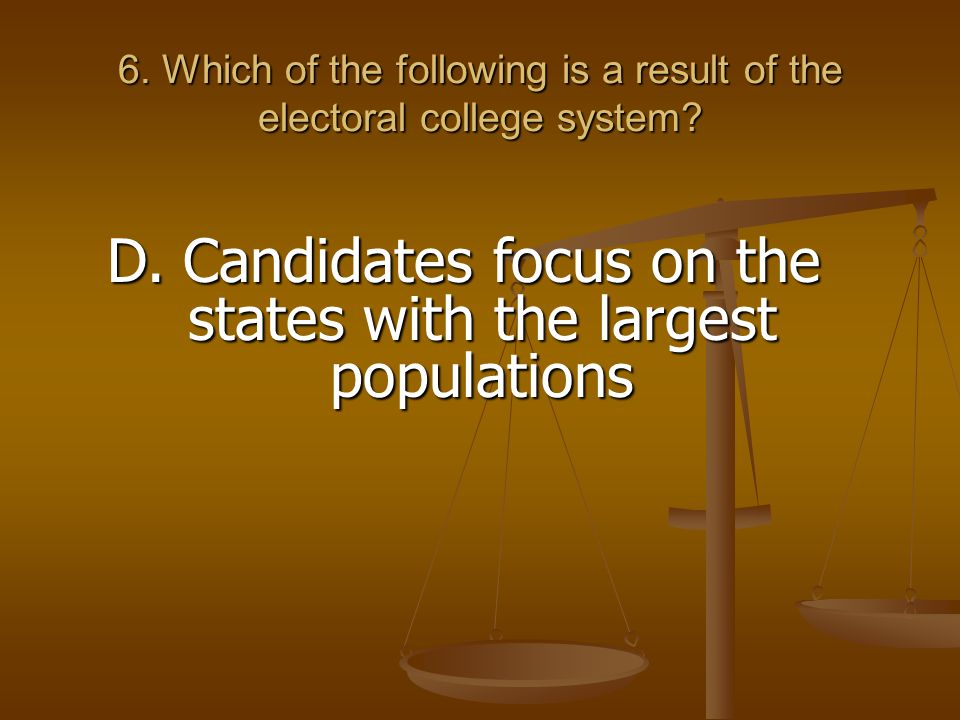 D. Candidates focus on the states with the largest populations