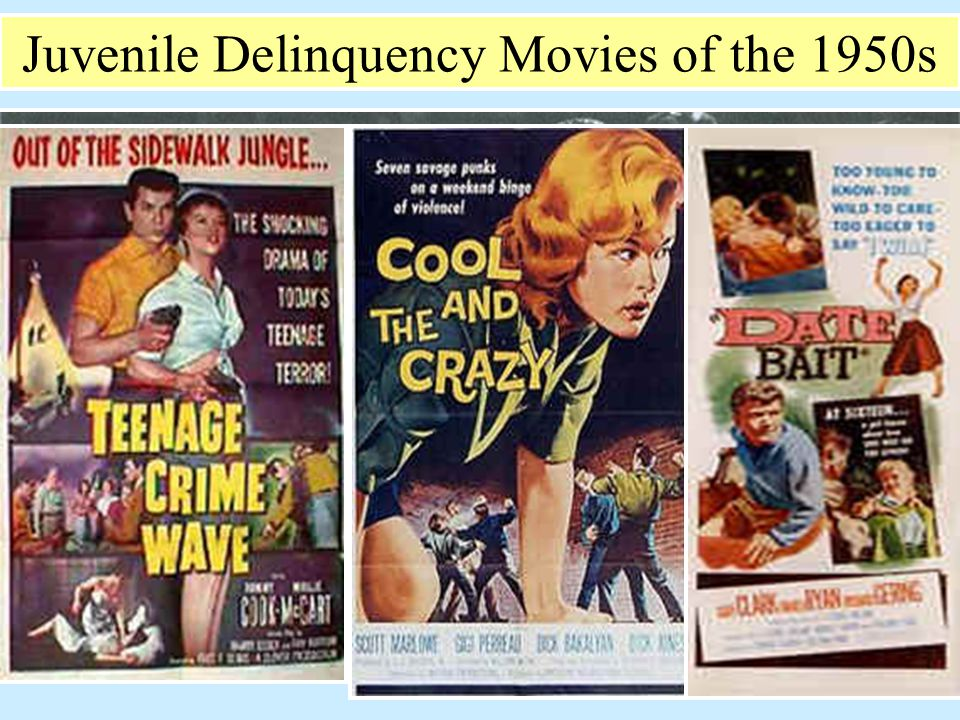 Juvenile Delinquency Movies of the 1950s