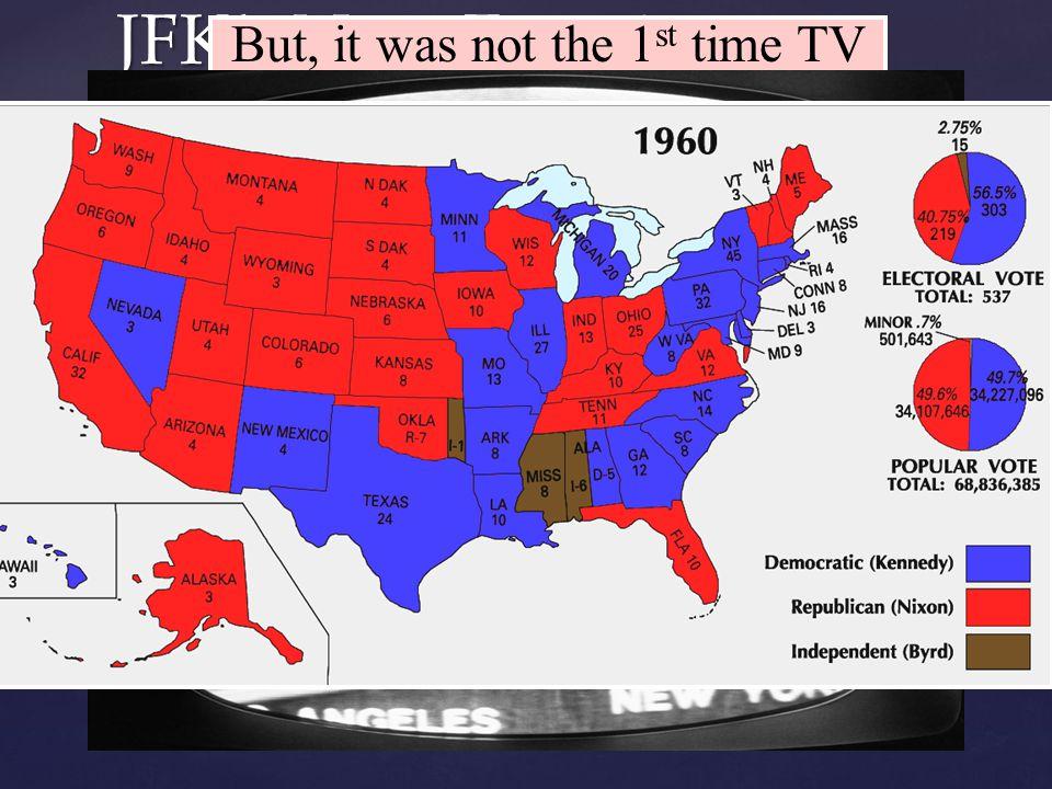  The election of 1960 between Richard Nixon & John F.