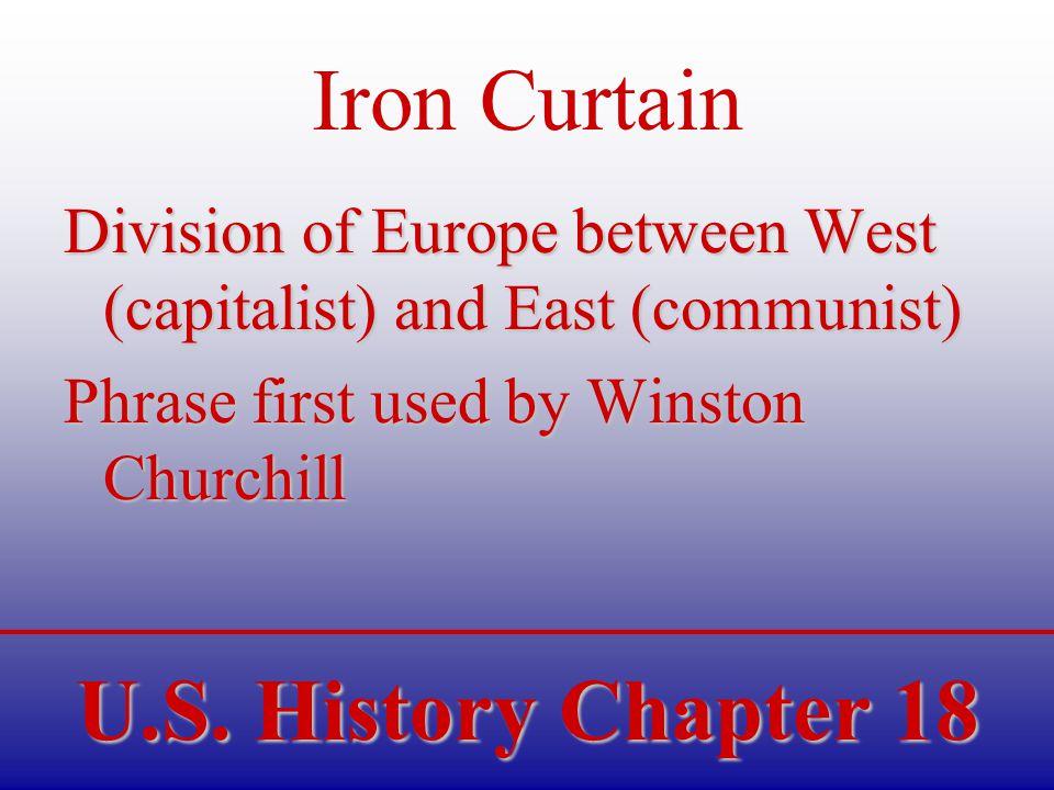 U.S.History Chapter 18 MacArthur v. Truman Douglass MacArthur –U.S.
