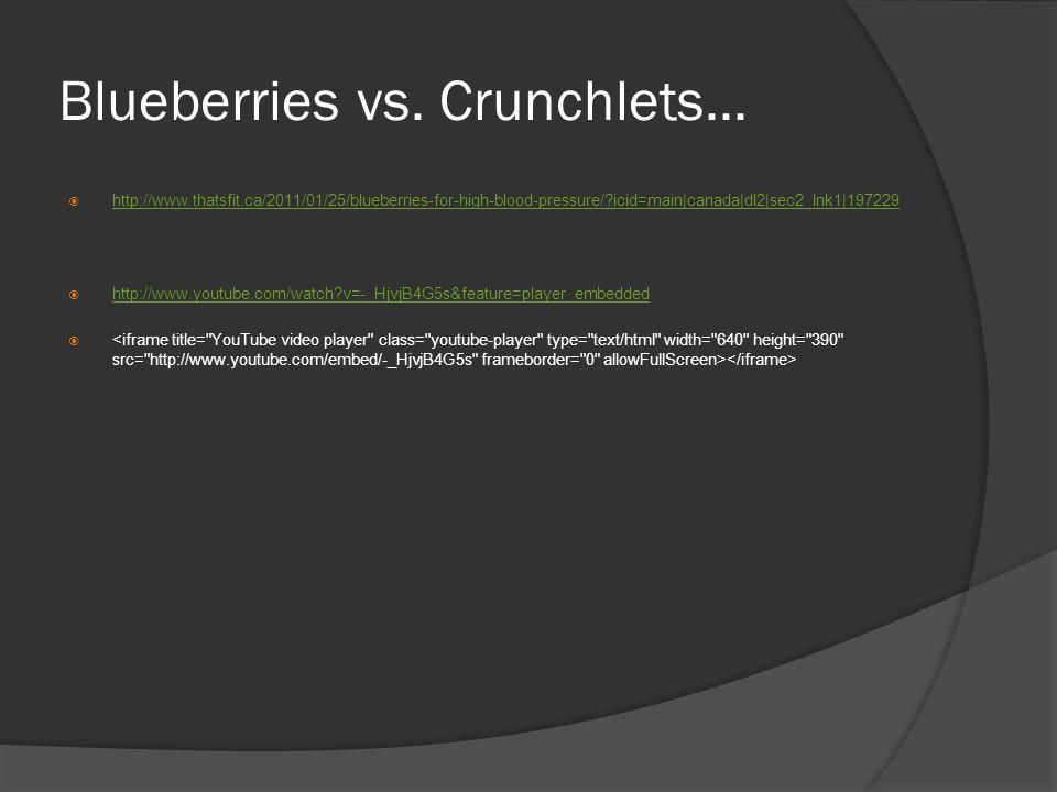 Blueberries vs. Crunchlets...