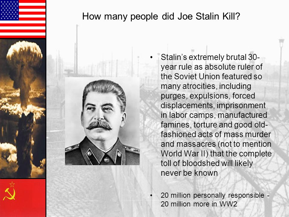 How many people did Joe Stalin Kill.