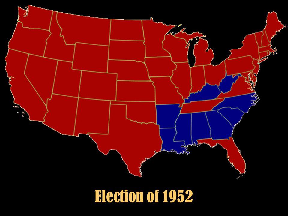 "Section 4-5 Eisenhower's ""New Look"" Election of 1952 – Democrat Adlai Stevenson against Republican Dwight D. Eisenhower. Eisenhower, the general who o"