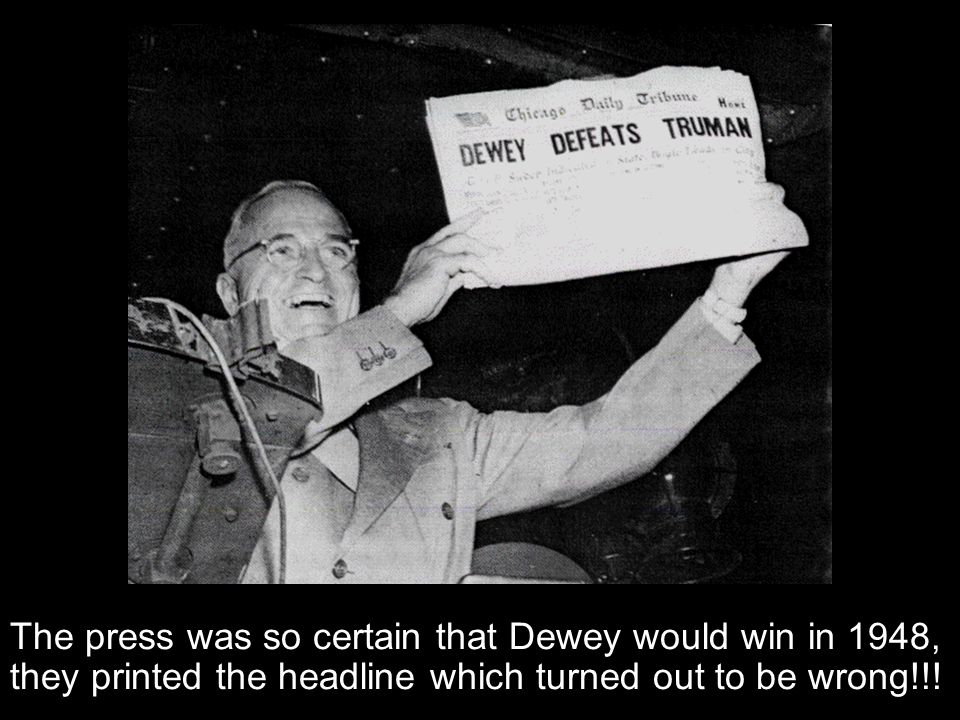 Section 1-10 As the election of 1948 neared, it looked as if Truman would not be reelected. During his campaign, Truman made speeches that criticized