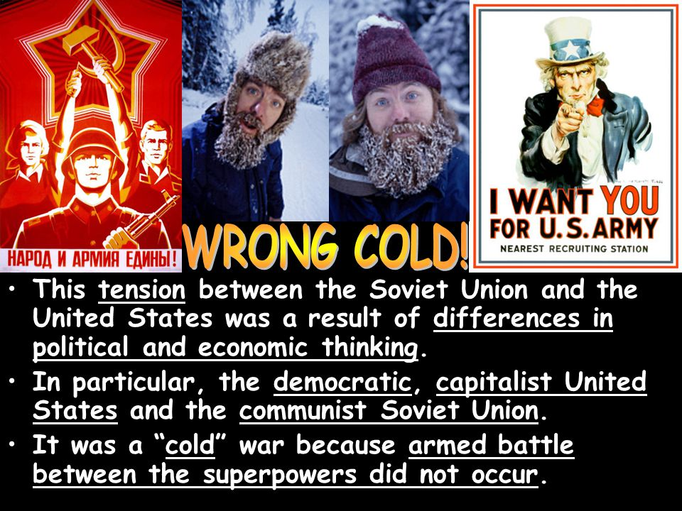 This tension between the Soviet Union and the United States was a result of differences in political and economic thinking. In particular, the democra