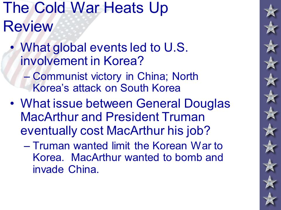 The U.S. Fights in Korea At first, North Korea seemed unstoppable. Korean War MacArthur's Counterattack Chinese Fight Back Recommendation To Attack Ch