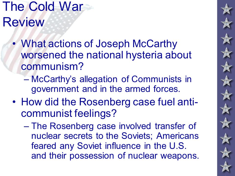 """McCarthy Launches His """"Witch Hunt"""" The most famous anti-Communist activist was Senator Joseph McCarthy, a Republican from Wisconsin. McCarthyism McCar"""