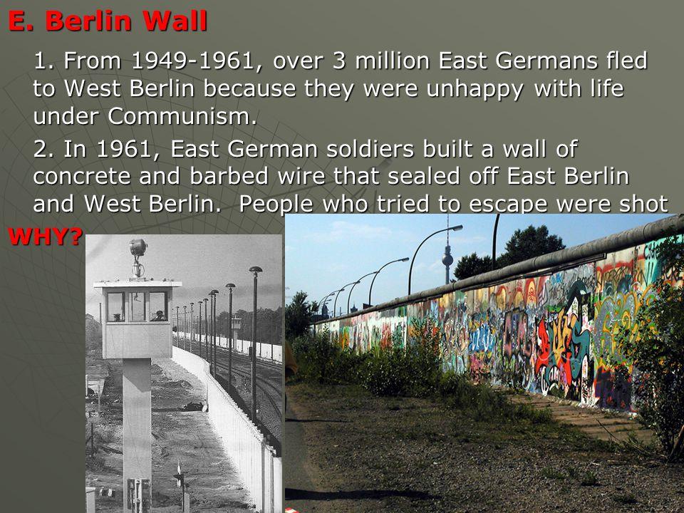 E. Berlin Wall 1.