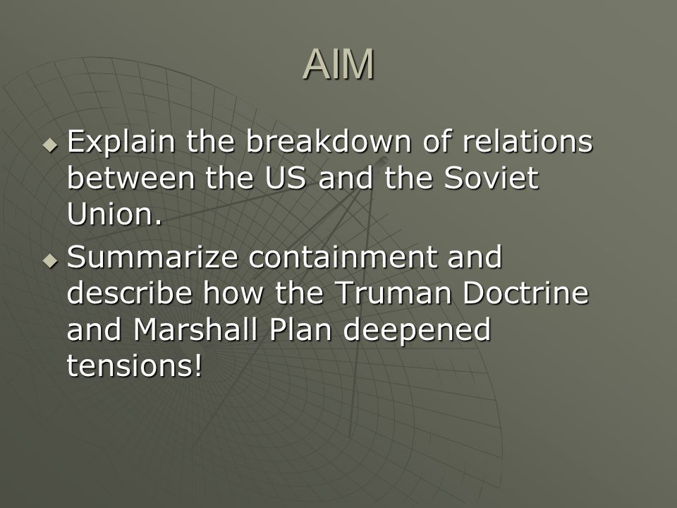 I.Roots of the Conflict A. Growing Distrust between the democratic western powers (U.S.