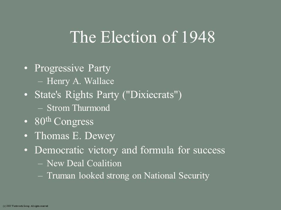 McCarthyism Joseph McCarthy – McCarthyism Millard Tydings (c) 2003 Wadsworth Group All rights reserved