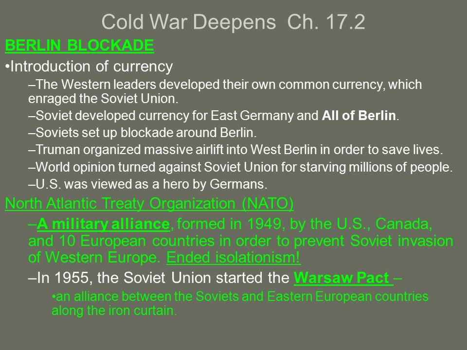 Cold War Deepens Ch.