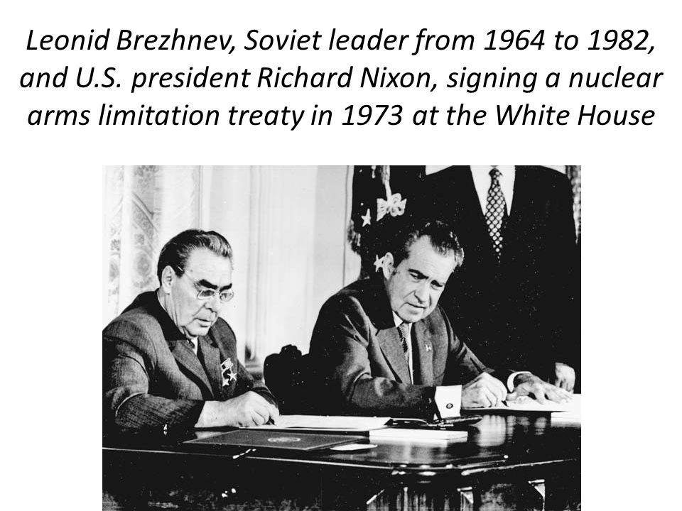68 The Slow Thaw… In 1969 Nixon began negotiations with USSR on SALT I, common name for the Strategic Arms Limitation Treaty Agreement. SALT I froze t