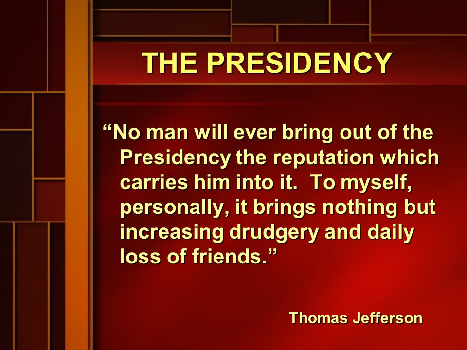 THE VICE PRESIDENCY The person with the best job in the country is the Vice President....