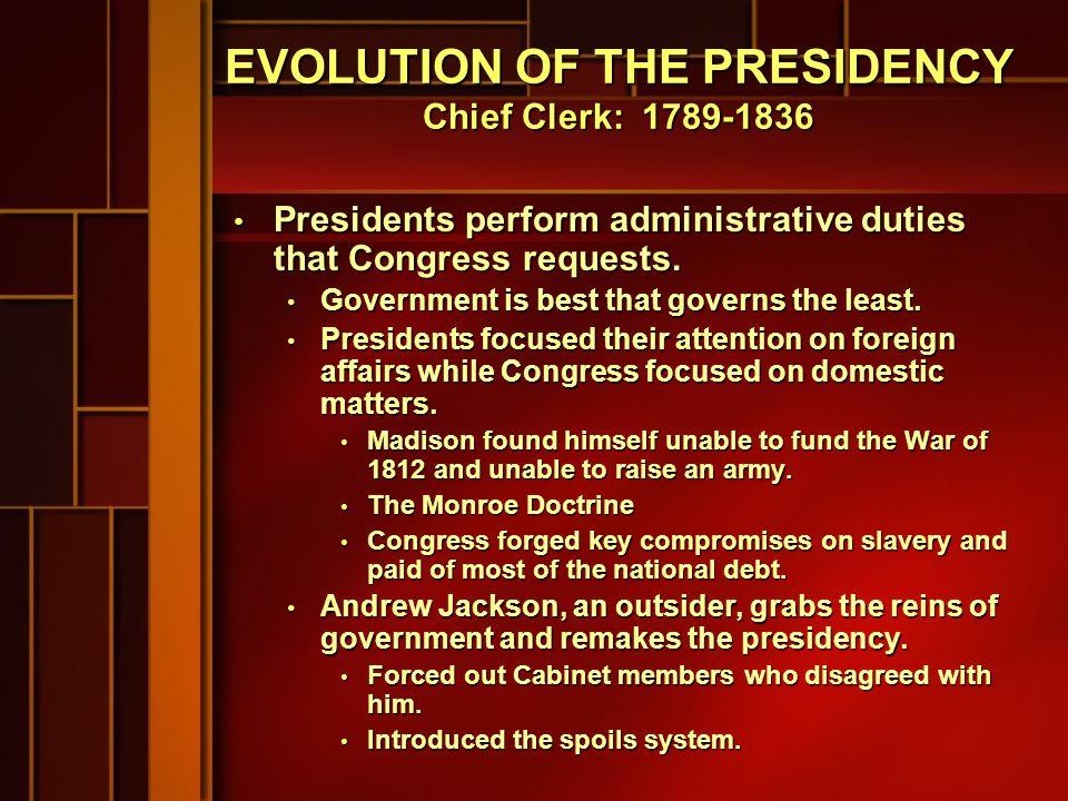 INFORMAL CRITERIA FOR PRESIDENT Vice-president?.Vice-president?.