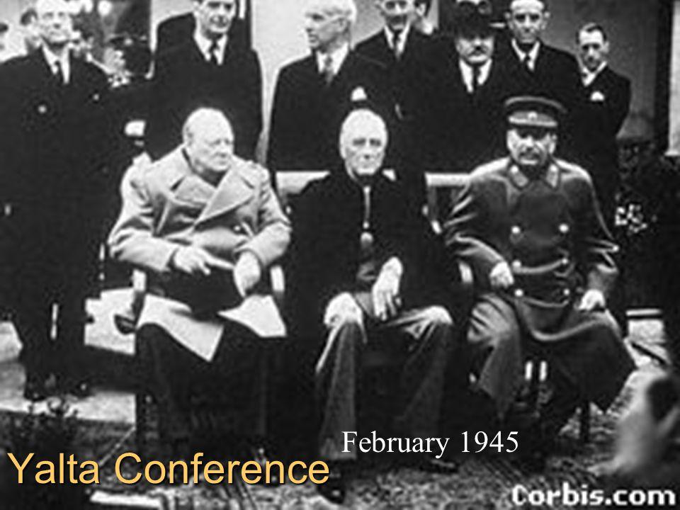 Yalta Conference February 1945