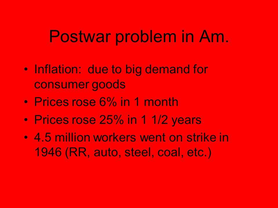 Postwar problem in Am.