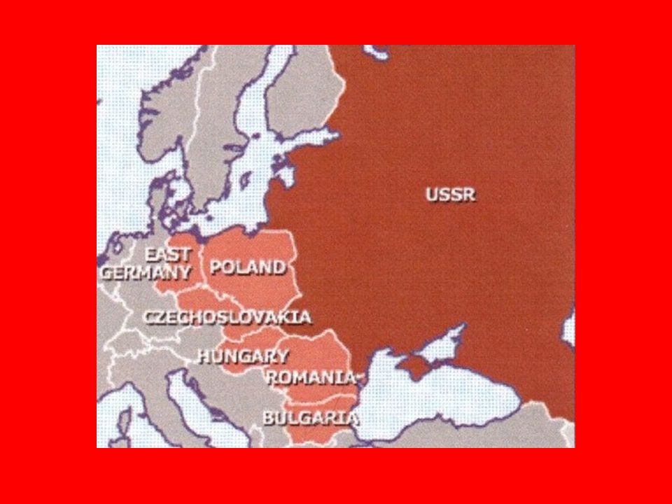 Winston Churchill 1946 speech: an iron curtain has descended across the continent of Europe Referring to the Soviet satellite nations Called for a democratic partnership to stop the spread of communism