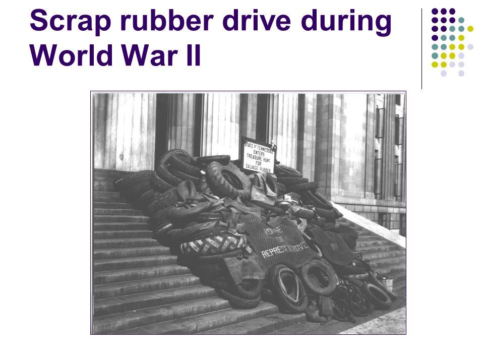 Scrap rubber drive during World War II