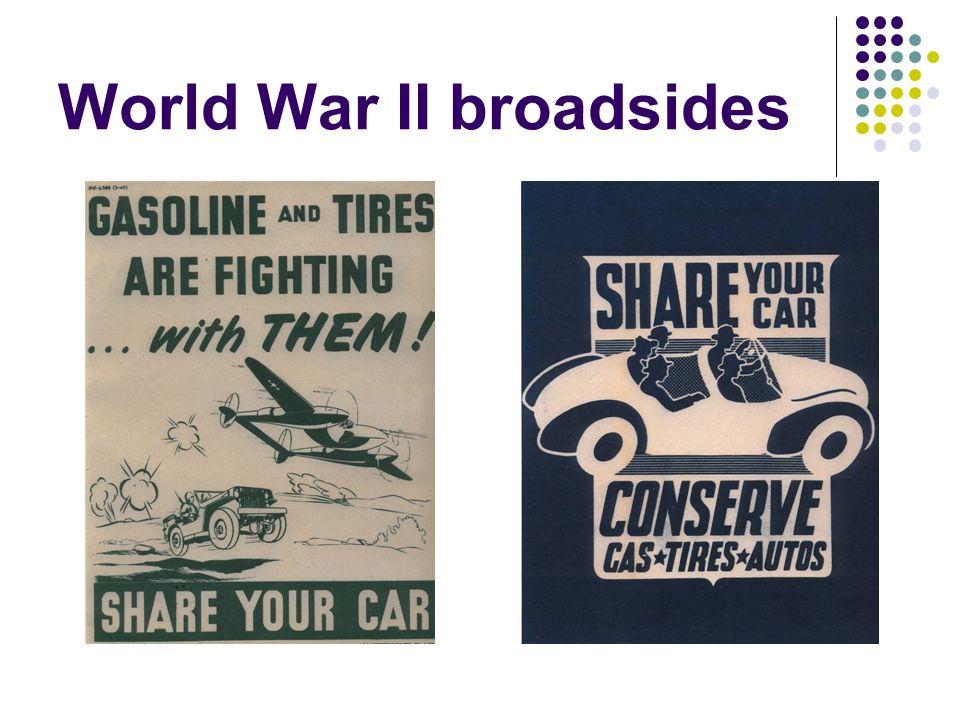 World War II broadsides