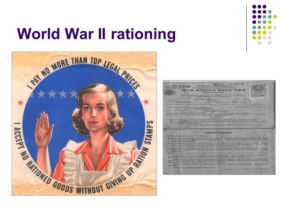 World War II rationing