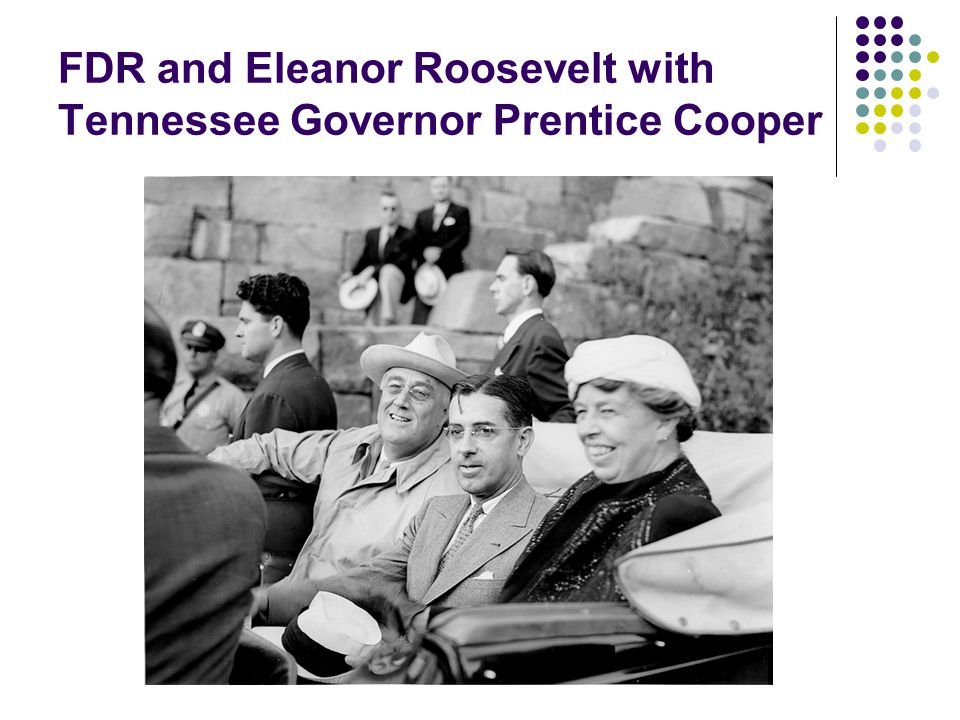 FDR and Eleanor Roosevelt with Tennessee Governor Prentice Cooper