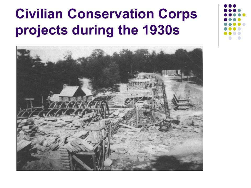 Civilian Conservation Corps projects during the 1930s