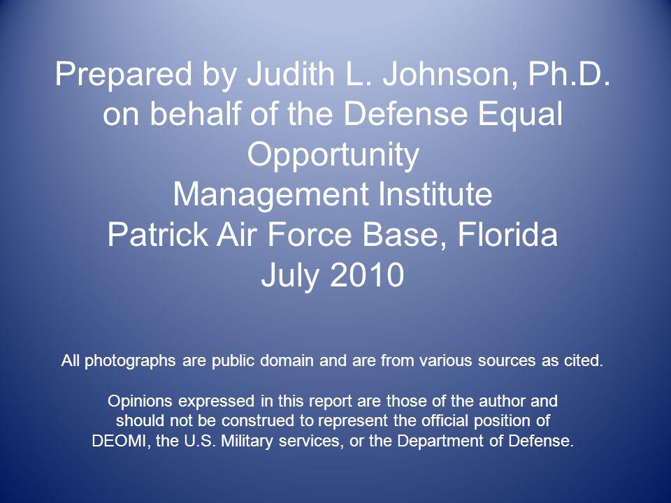 Prepared by Judith L. Johnson, Ph.D.