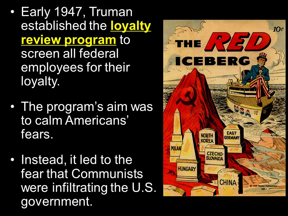 Section 3: A New Red Scare During the 1950s, rumors and accusations in the United States led to fears that Communists were attempting to take over the
