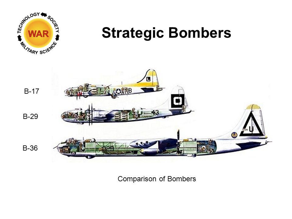 Strategic Bombers Comparison of Bombers B-17 B-29 B-36