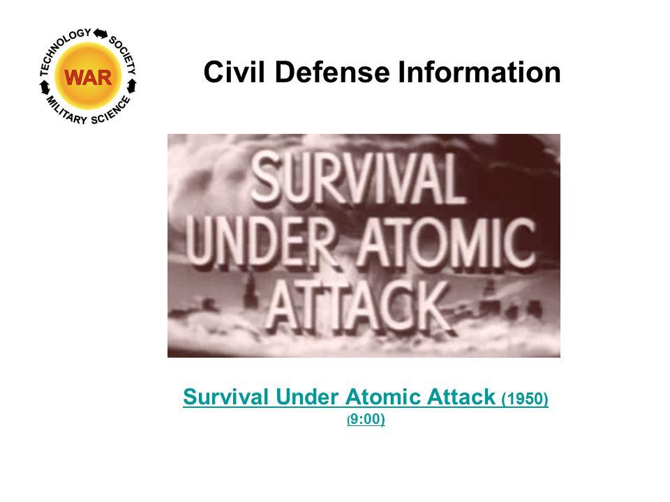 Survival Under Atomic Attack (1950) ( 9:00) Civil Defense Information