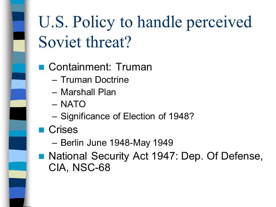 Reagan's pressure Defense Build-up: $300B –B1 Bomber, MX missile, New missiles in NATO nations, SDI ( Star Wars ) Gorbechev 1985 –Perestroika, glasnost, freedoms in E.
