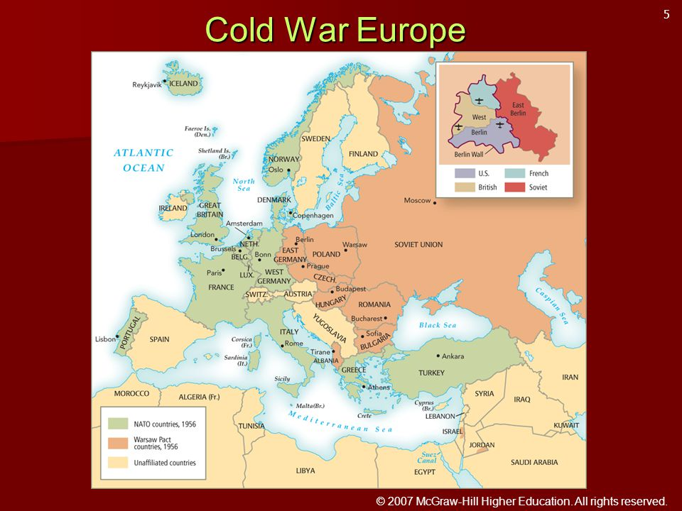 © 2007 McGraw-Hill Higher Education. All rights reserved. Cold War Europe 5