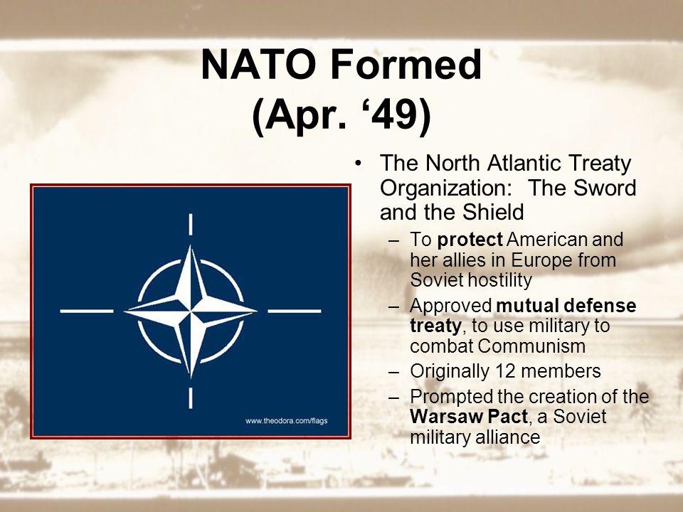 NATO Formed (Apr.