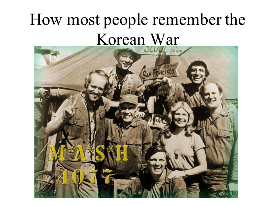 How most people remember the Korean War