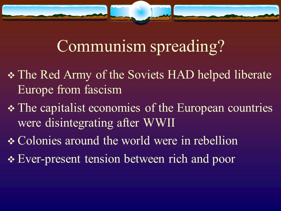 Communism spreading.