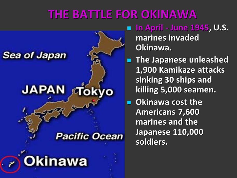 IWO JIMA February 19 – March 26, 1945 General MacArthur and the Allies next turned to the Island of Iwo Jima.
