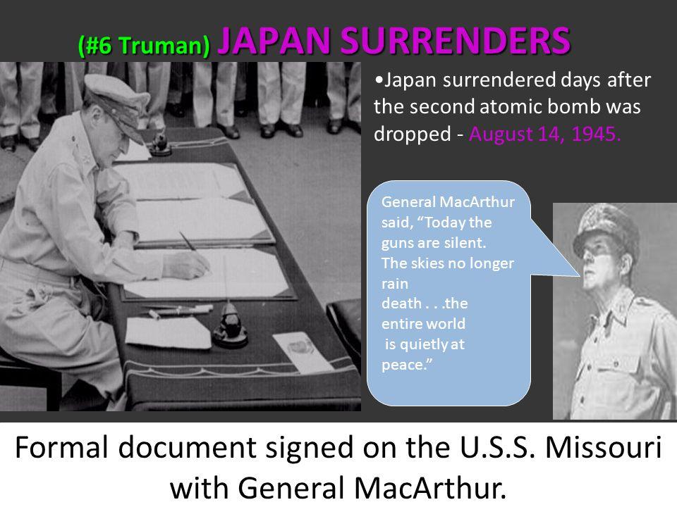 August 9, 1945 Atomic bombing of NAGASAKI