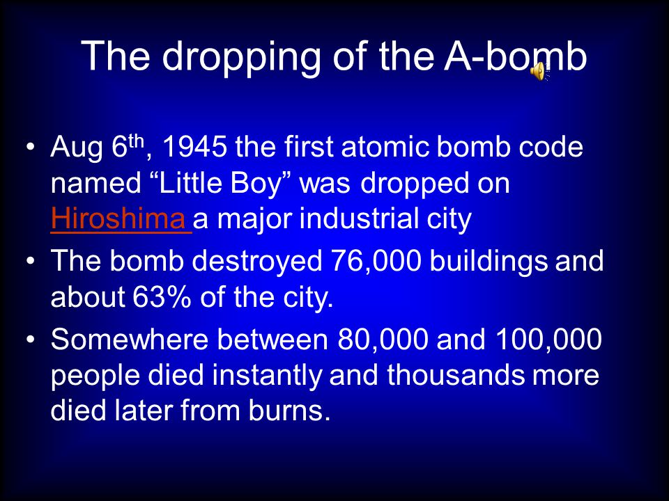The decision to drop the bomb Their were many different views on whether or not to drop the bomb some thought it would kill too many civilians others