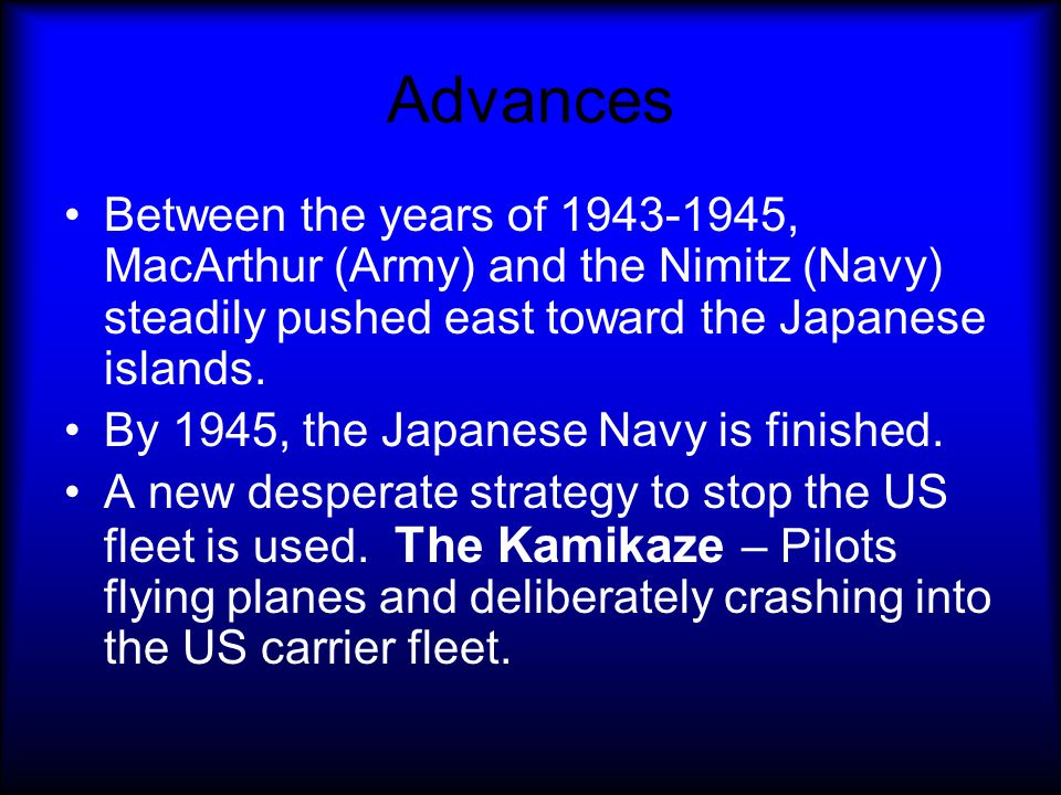 Battle of Guadalcanal After the victory at Midway, the Allies took the offensive. Douglas MacArthur was commander of the Allies in the PacificDouglas