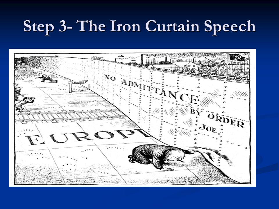 Step 3- The Iron Curtain Speech