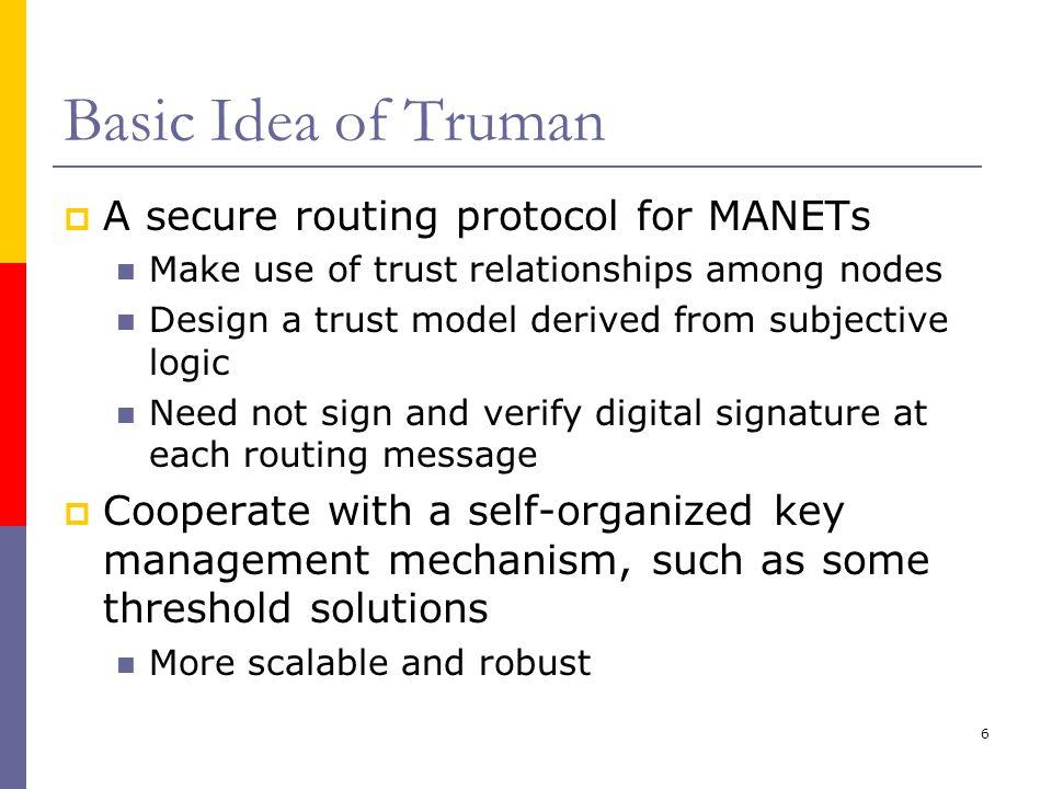 7 Framework of Truman