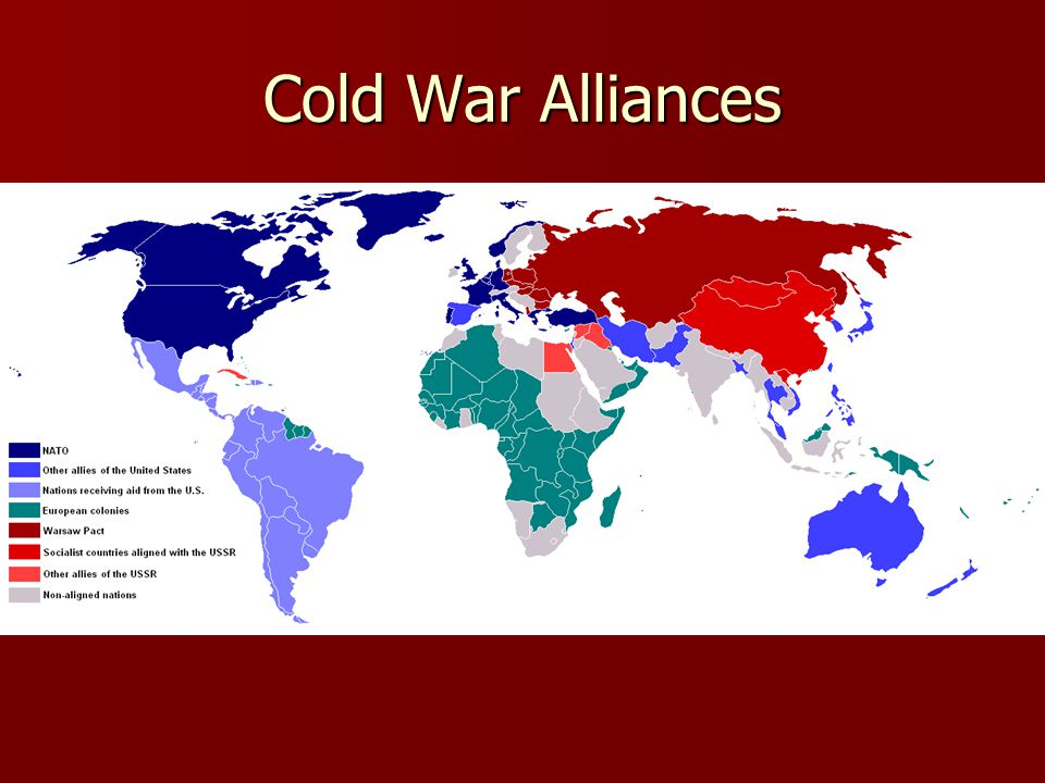 Arms Race The U.S.and USSR competed for military superiority The U.S.
