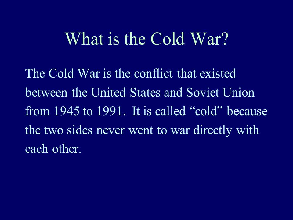 If the US & USSR Never Fought Directly, why do we call it a war.