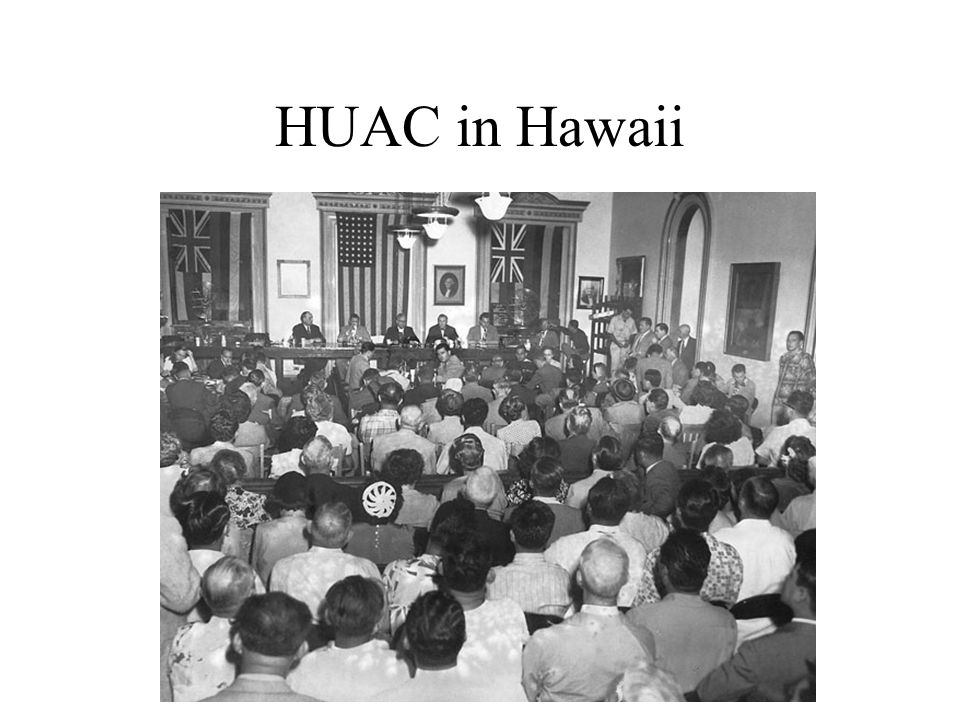 HUAC in Hawaii