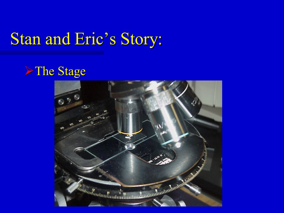 Stan and Eric's Story:  The Stage