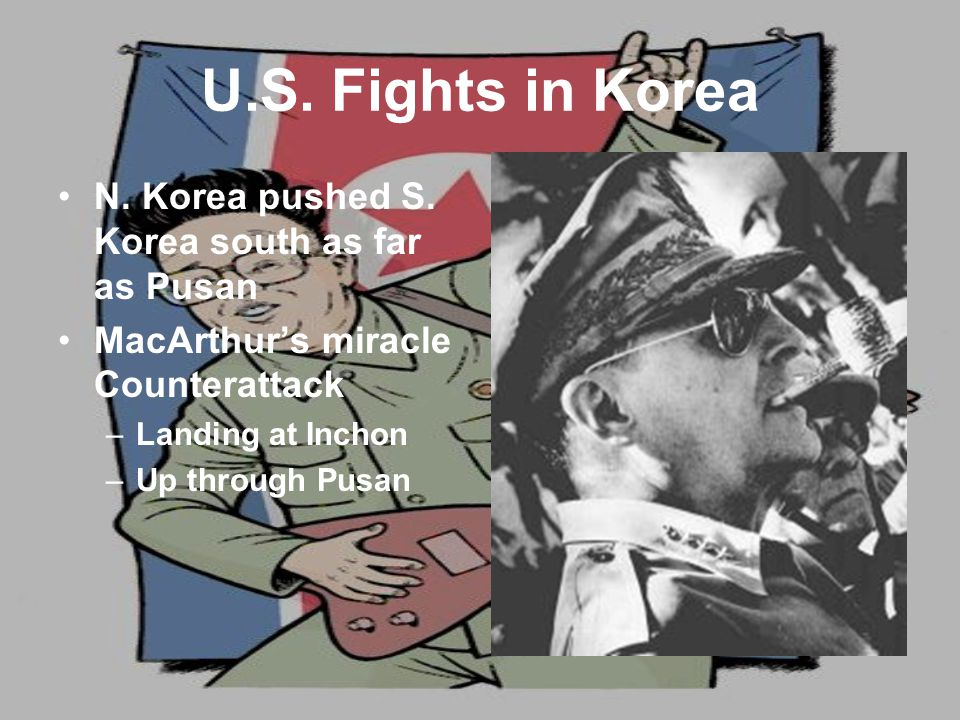 U.S. Fights in Korea N. Korea pushed S.