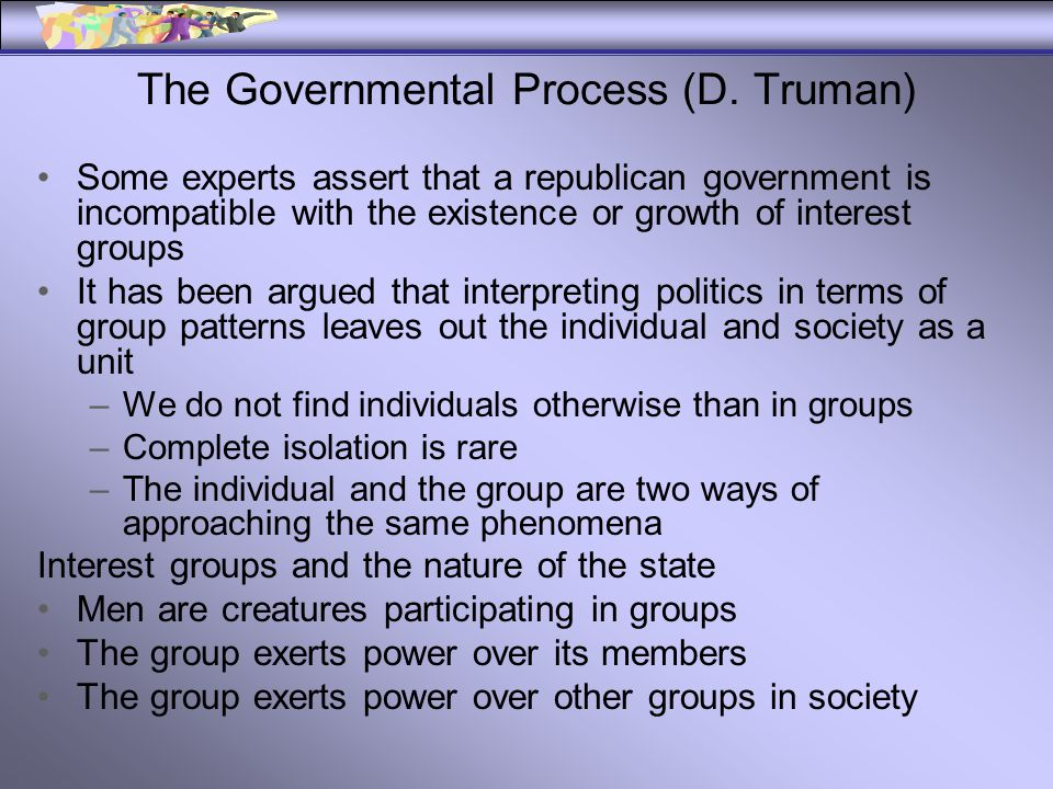 The Governmental Process (D.