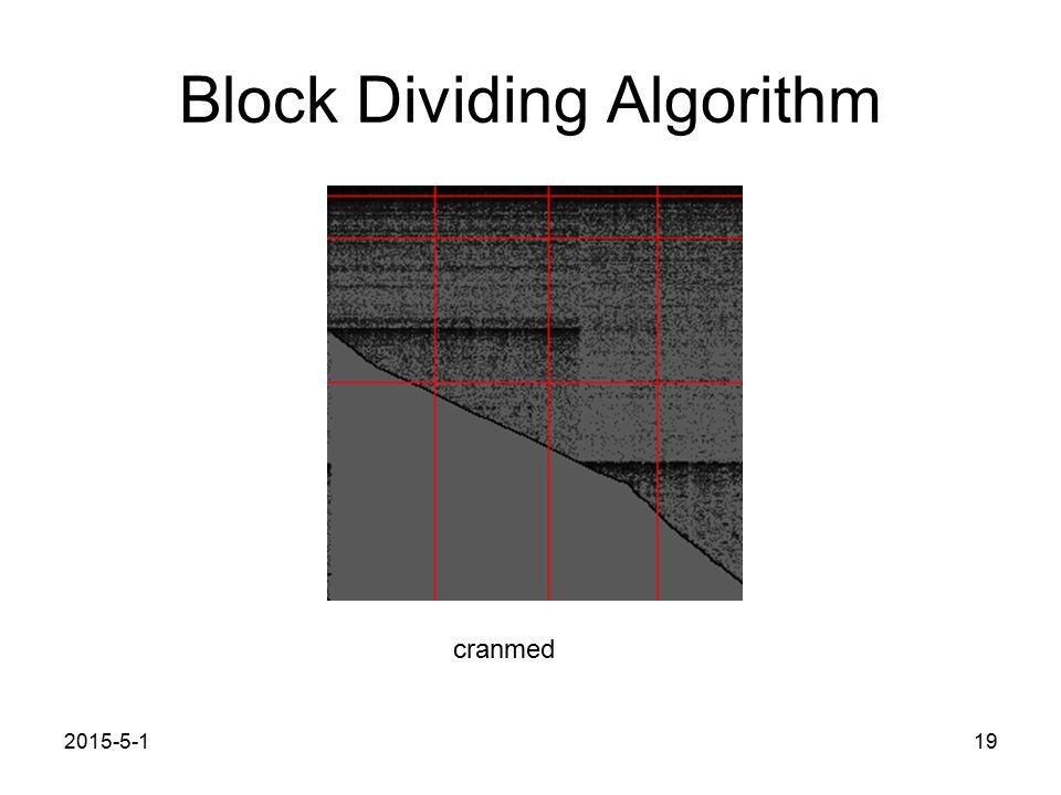 Block Dividing Algorithm 2015-5-119 cranmed